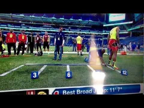 """2013 NFL combine Jamie Collins 11'7"""" broad jump"""