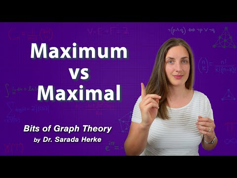 Graph Theory: 50. Maximum vs Maximal