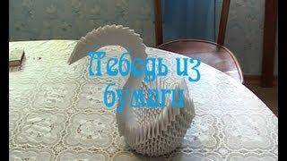 Модульное оригами. Лебедь из бумаги (3D origami)(Бумажный лебедь., 2013-08-26T09:06:58.000Z)