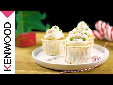 recette-de-mini-cupcakes-petit-pois-et-fromage-de-chèvre-au-cooking-chef-gourmet-kenwood