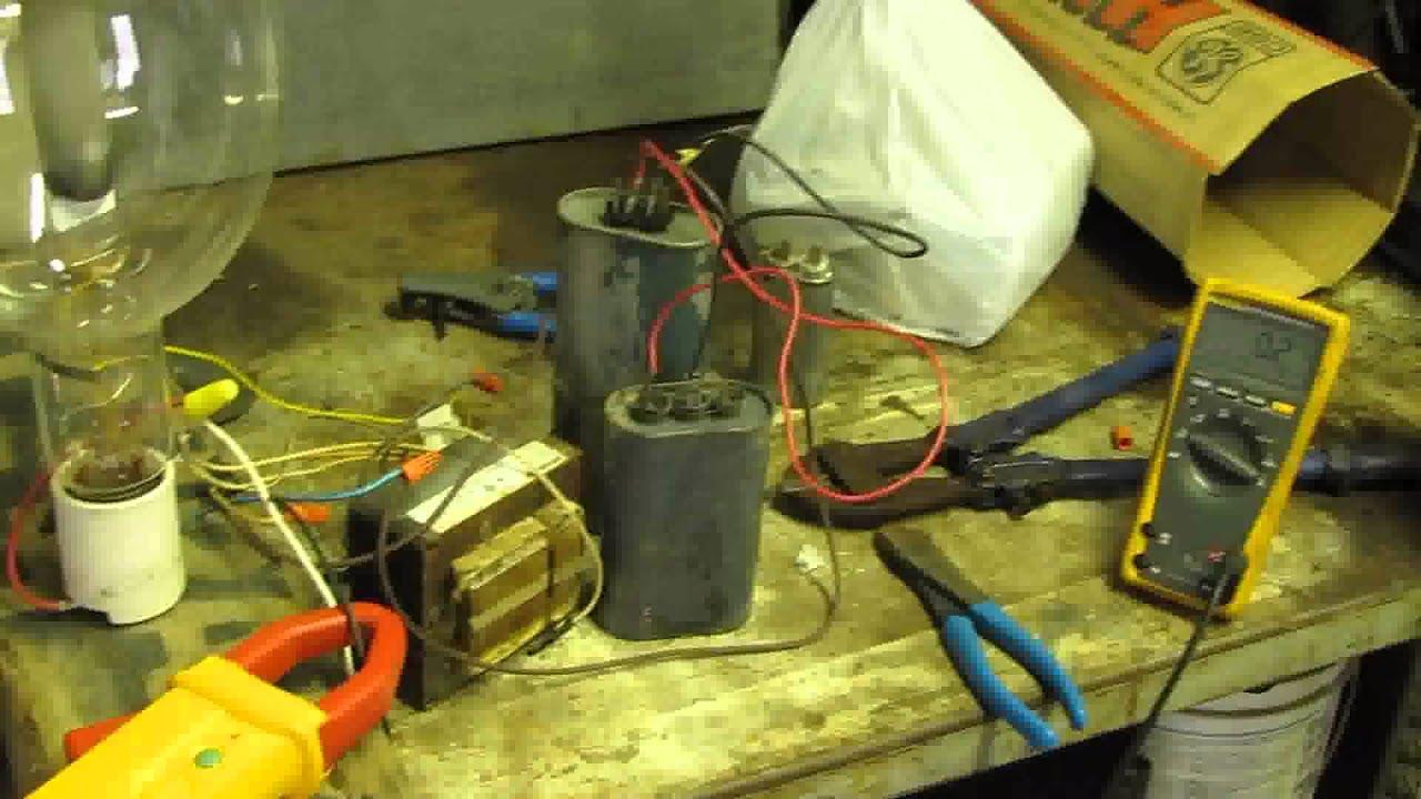 lighting a 1500 watt metal halide hid lamp with a 400 watt rated ballast [ 1280 x 720 Pixel ]