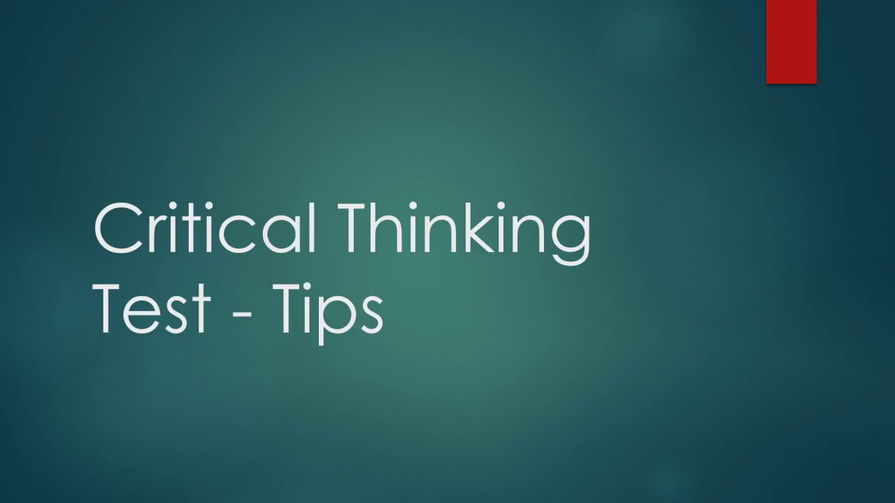critical thinking tests free