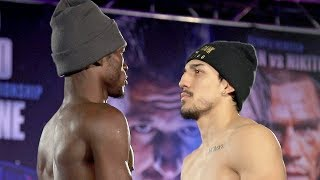 TEOFIMO LOPEZ STARES HARD INTO THE EYES OF RICHARD COMMEY - FULL COMMEY VS LOPEZ WEIGH IN & FACE OFF