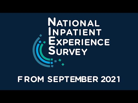 The 2021 National Inpatient Experience Survey is underway