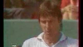 McEnroe Connors settling dispute at the net French Open 1984