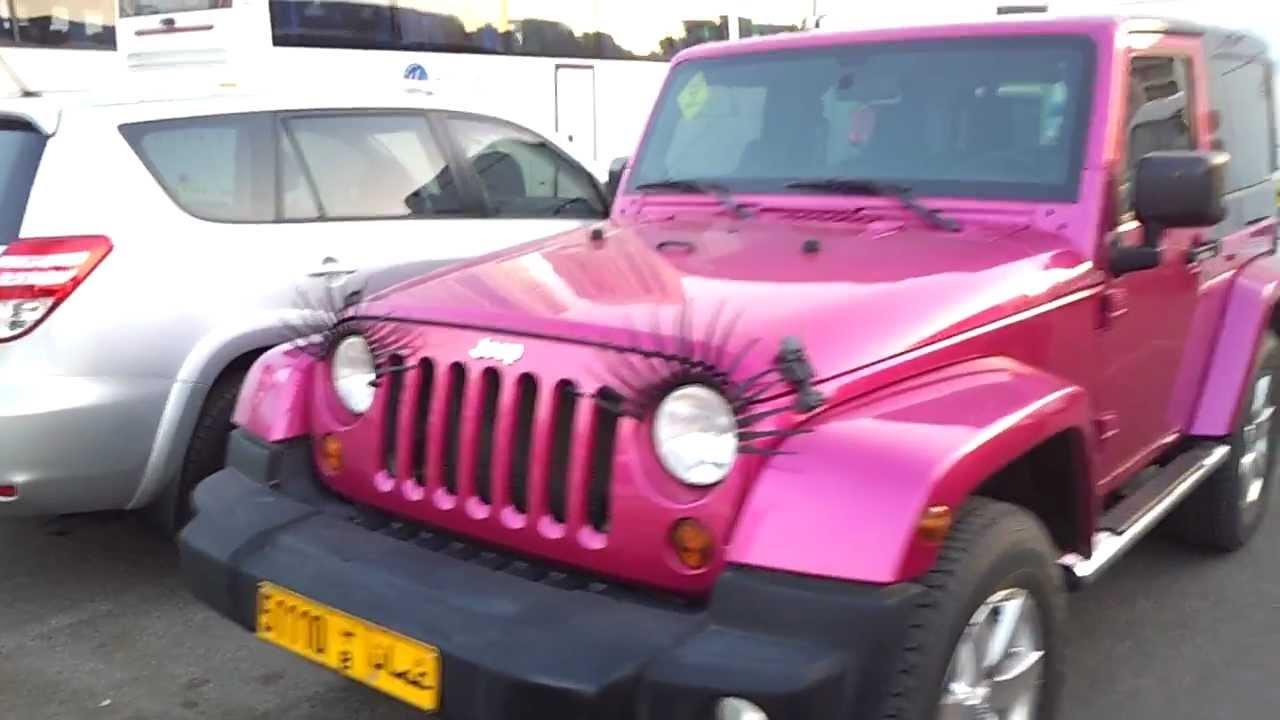Pink Jeeb With Eyelashes At Dubai Mall Youtube