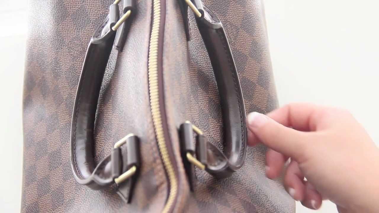 b92e3597e59c Louis Vuitton Speedy 35 Damier Ebene Defect - YouTube
