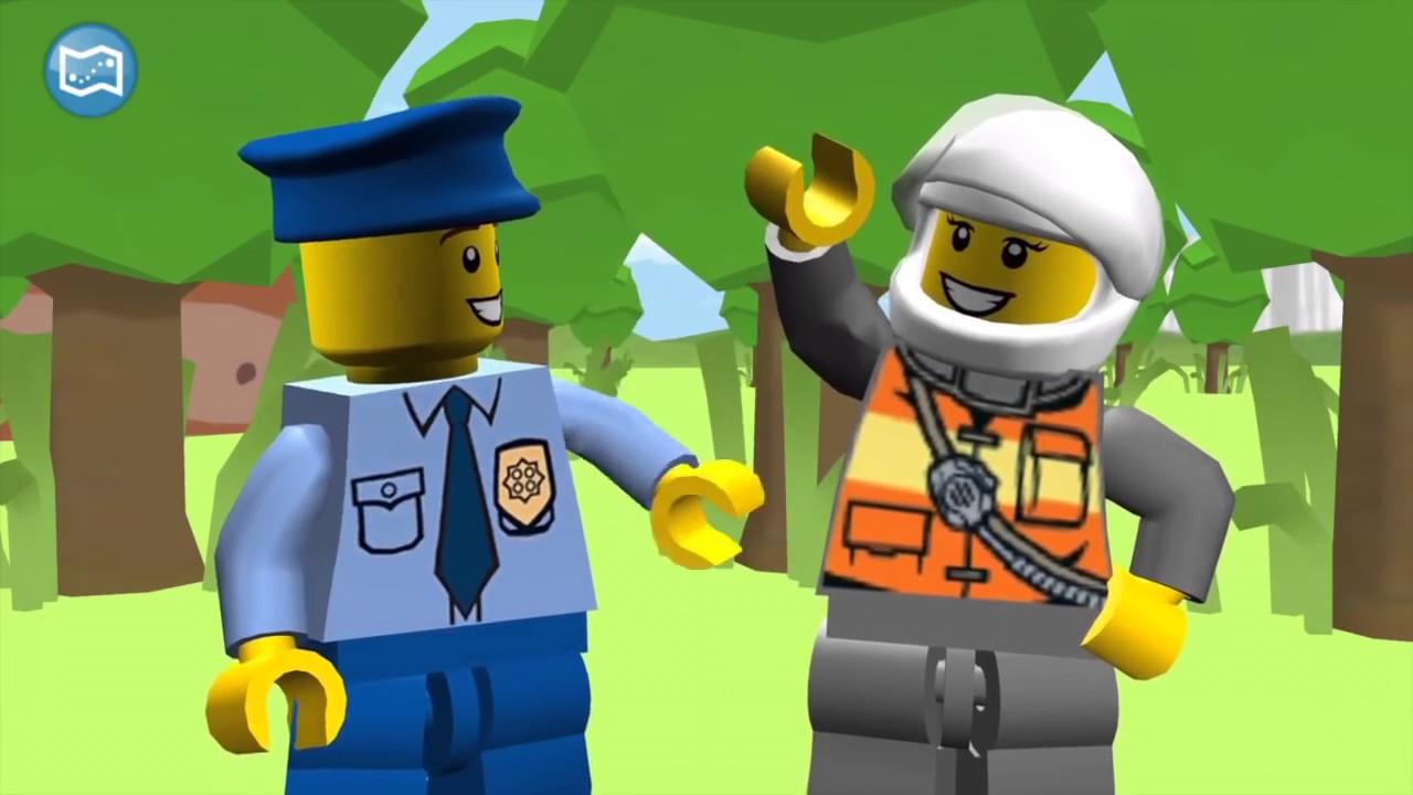Lego Ciudad Bomberos para niños Policias para niños VIDEO LARGO ...