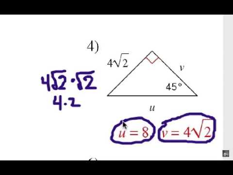 Special Right Triangles: 45-45-90 Shortcuts - YouTube