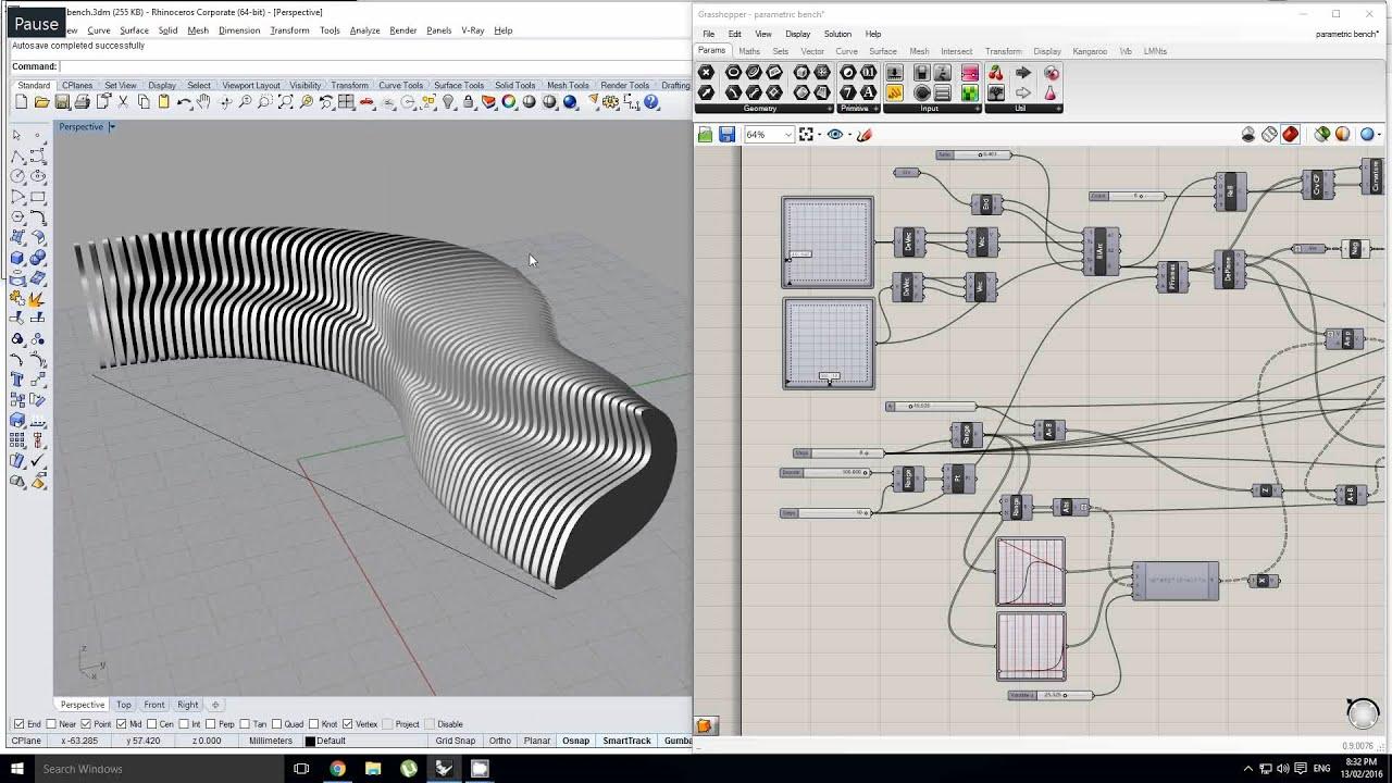 3d Design Flower Wallpaper Grasshopper Making A Parametric Bench Youtube