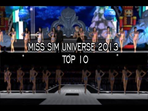 Miss Sim Universe 2013 - Top 10