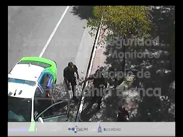 Pelea y detención Plaza Rivadavia. MBB Sec. Seguridad