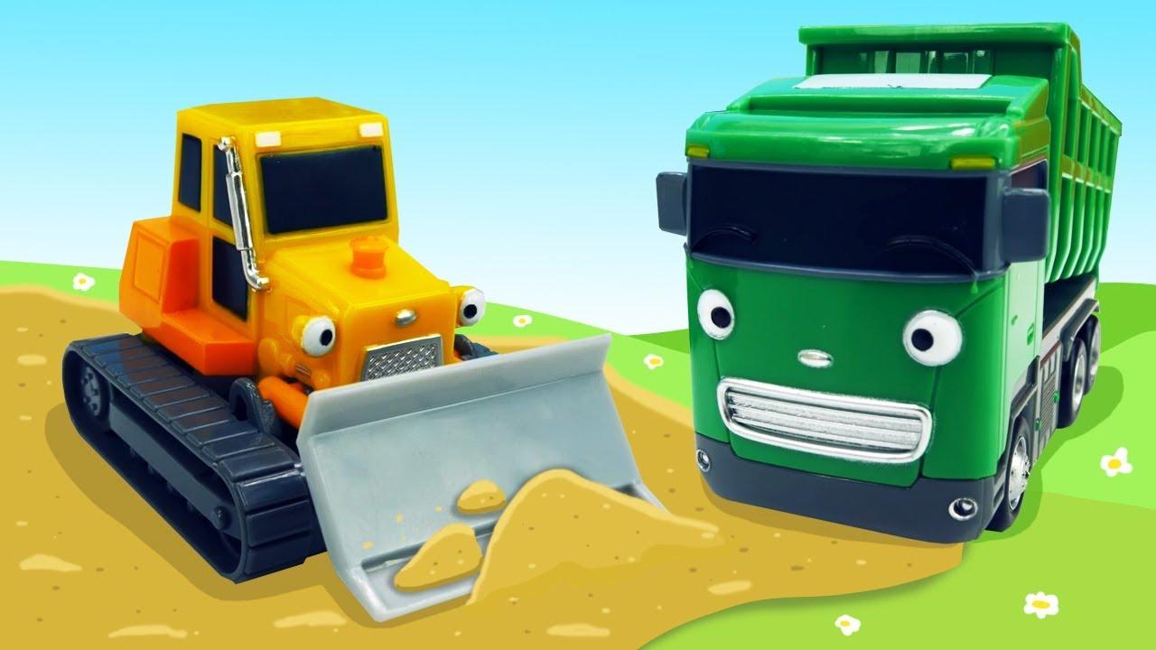 Мультики для мальчиков - Рабочие машинки на стройке ...