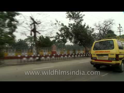 Driving through the multicultural city of Lucknow