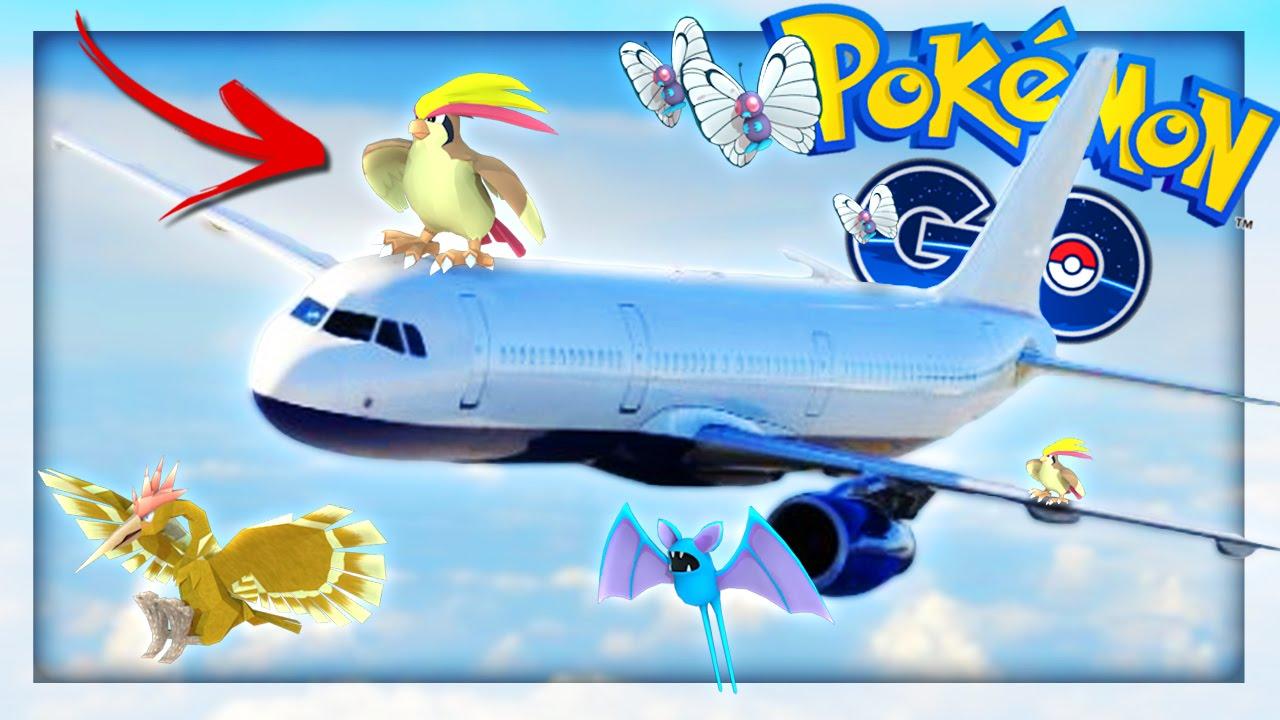 pokemon go on the airplane youtube
