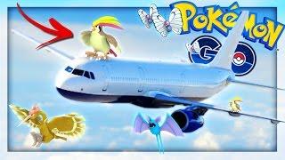 POKEMON GO ON THE AIRPLANE