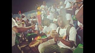 احتفال جماهير مالي بالفوز على موريتانيا في بطولة أمم أفريقيا