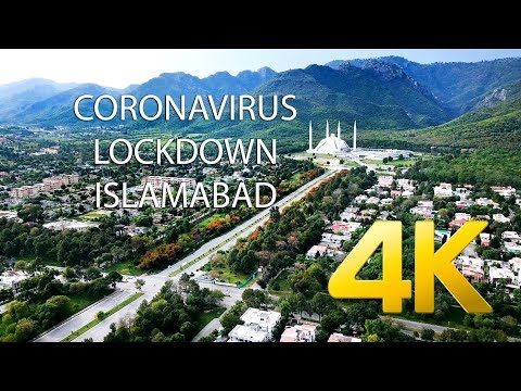 ISLAMABAD DURING LOCKDOWN DRONE FOOTAGE (COVID - 19) - 4K Ultra HD - Karachi Street View