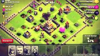 Attacking in clash of clans!! I won!