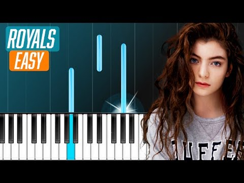 "Lorde - ""Royals"" EASY Piano Tutorial - Chords - How To Play - Cover"