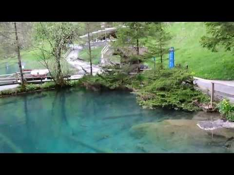 Beautiful lake Blausee, Bern Switzerland (with English subtitle . turn the CC on)