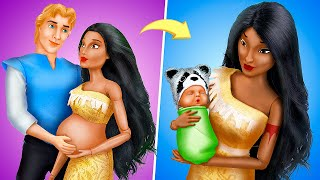 Pocahontas and Her Baby / 11 DIY Disney Doll Hacks and Crafts