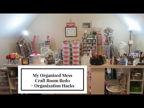 Before & After Craft Room Tour + Organization Hacks