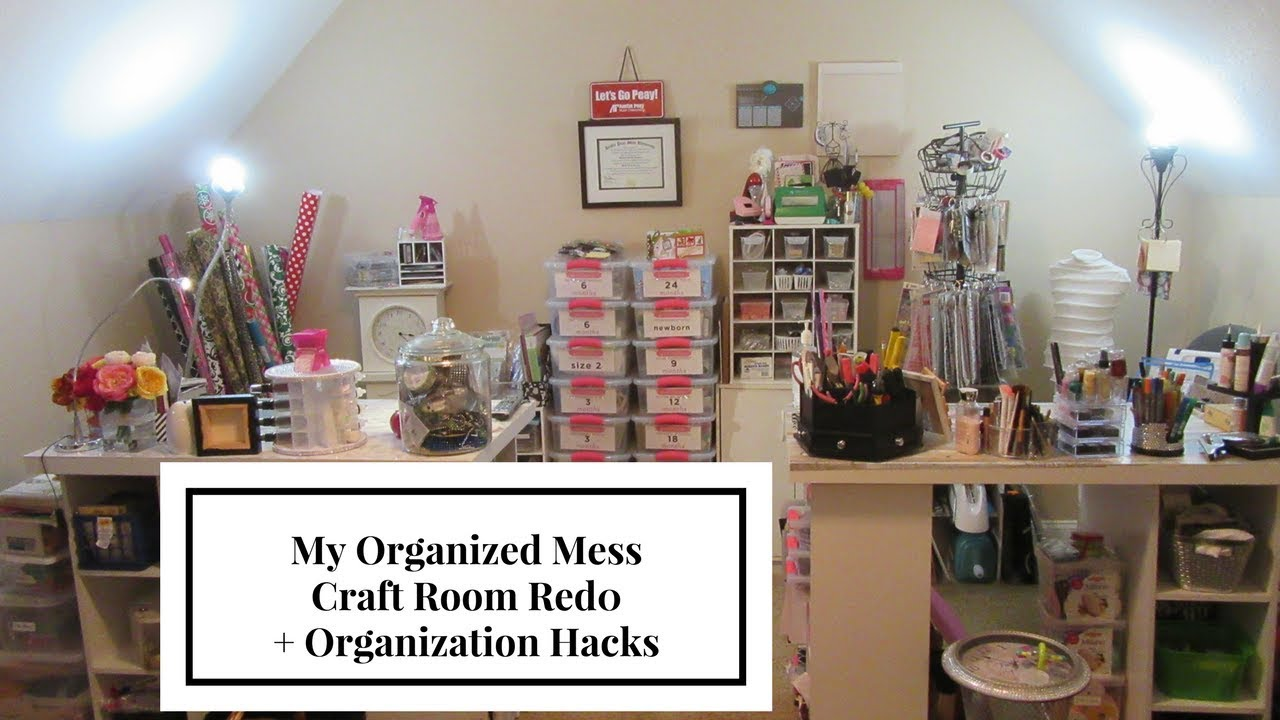 Before After Craft Room Tour Organization Hacks
