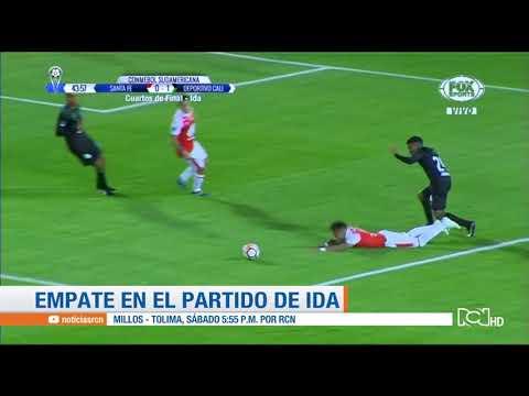 Santa Fe vs Cali: resumen y goles del empate 1-1 en Copa Sudamericana