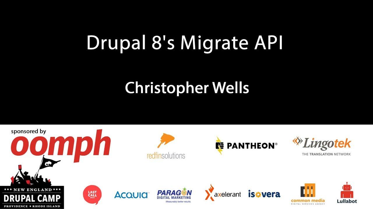Drupal 8's Migrate API