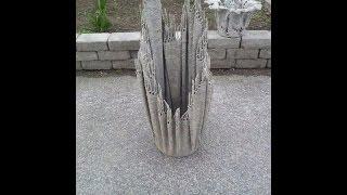 Идея для кашпо.(Вы можете сделать своими руками оригинальное кашпо из цементного раствора. В этом видео вы увидите как..., 2016-05-13T04:30:01.000Z)