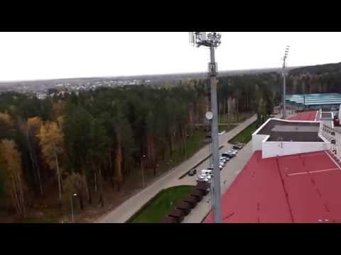 Вид с мачты освещения 30м на Жемчужину Сибири