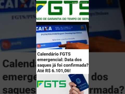 Calendario Do FGTS Emergencial: Data Dos Saques Ja Foi Confirmada Com O Teto Maximo De 6.101,06