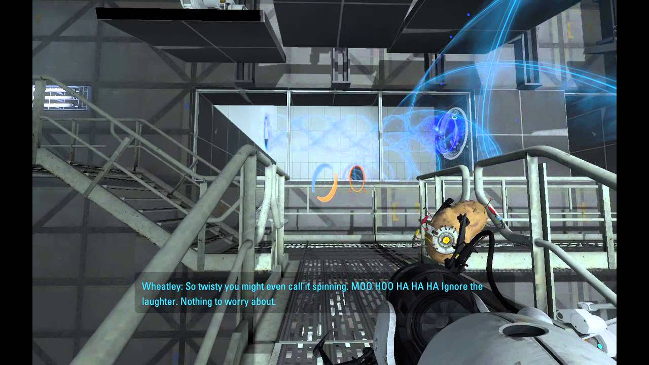 Fight Quotes Wallpaper Spoilers Funny Portal 2 Easter Egg In Chapter 9