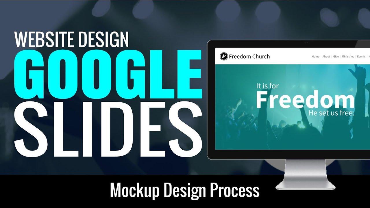 website design in google slides youtube