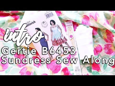 Gertie B6453 Sundress Sew Along, Intro! | Vintage on Tap
