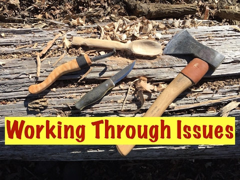 "Carving Tips "" Working Through Issues"""