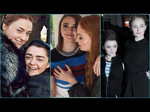 Maisie Williams and Sophie Turner (Arya and Sansa) Best Friends in Real Life.