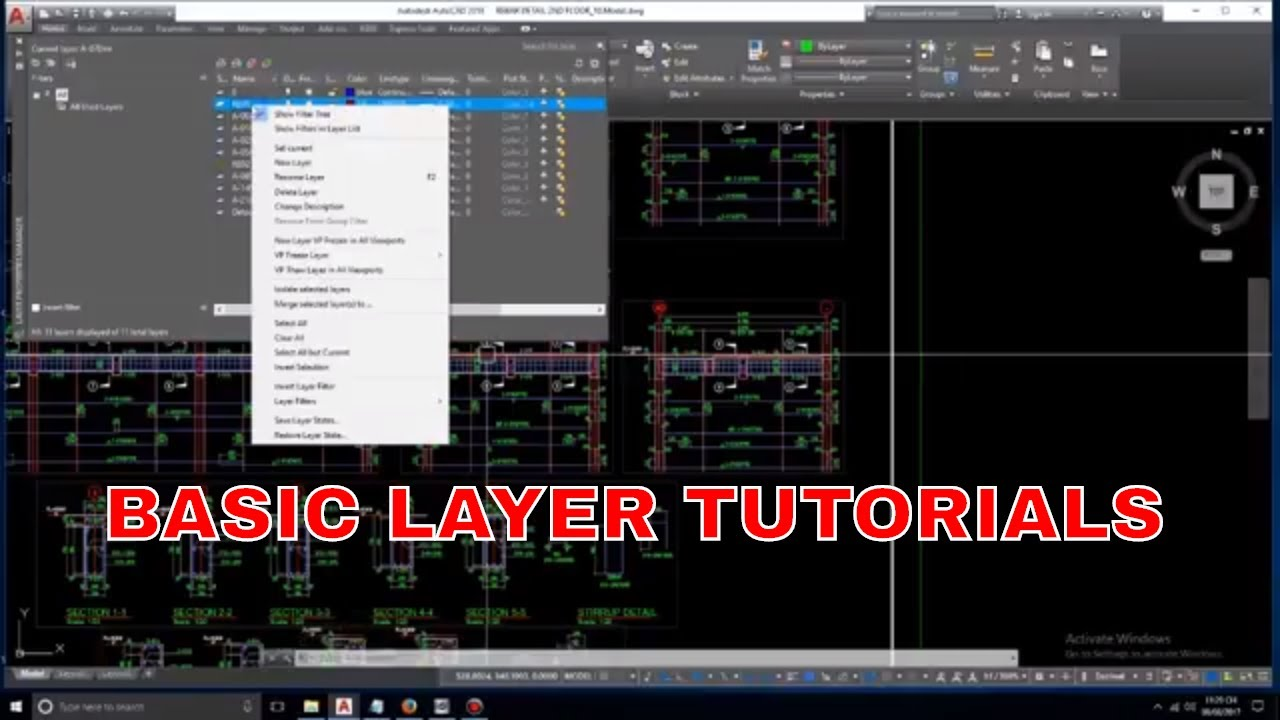 how to make layers on autocad