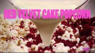 Dessert Snacks: Red Velvet Cake Popcorn Recipe