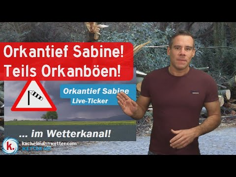 Update: Orkantief Sabine - Live-Ticker Gestartet!