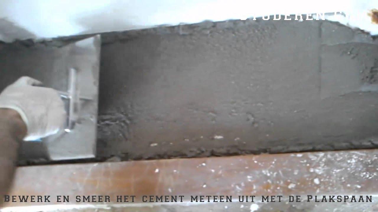 hoe moet je cement leggen op de vloer youtube