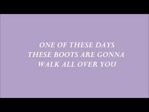 Nancy Sinatra - These Boots Are Made For Walking Lyrics