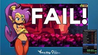 Speedrun Fail - Shantae and the Pirate's Curse Soft Lock RIP - Game Mode