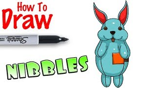 How to Draw Nibbles Back Bling | Fortnite