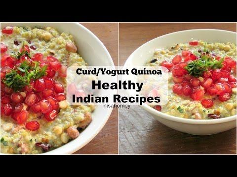 Curd Quinoa Recipe - How To Make Yogurt Quinoa Bowl - Dahi Quinoa - Healthy Indian Recipes