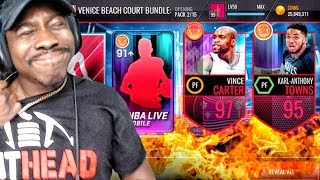 VENICE BEACH PACK OPENING & 97 OVR VINCE CARTER! NBA Live Mobile Gameplay Ep. 147