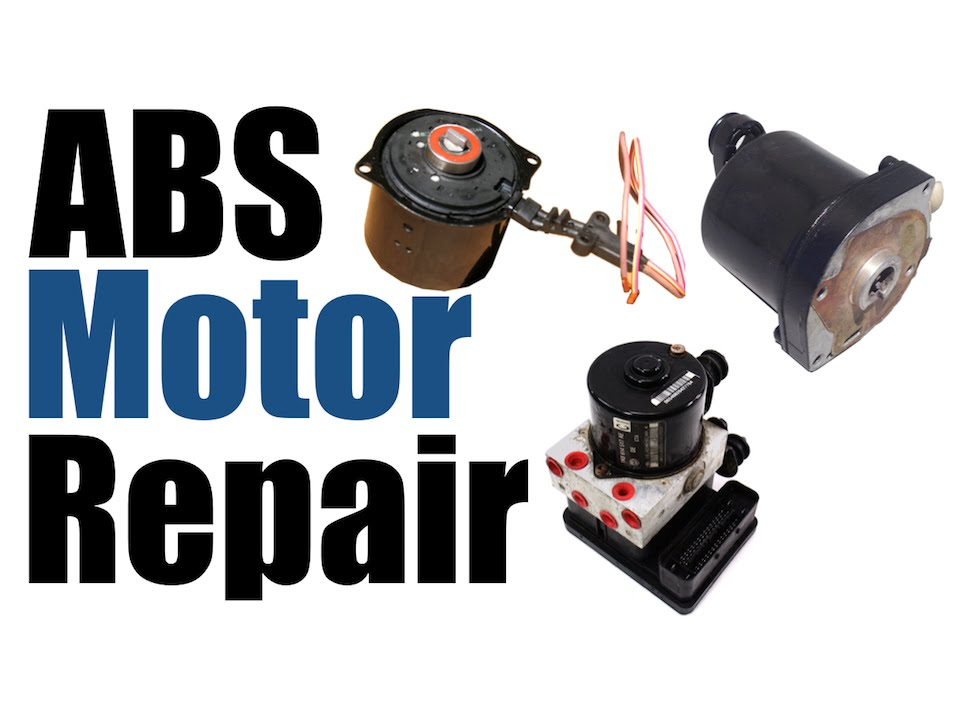 Abs Anti Lock Braking System Motor Repair Youtube