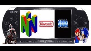 Como baixar emulador do `` Nintendo 64 , Nintendo NES  e Mega drive 3´´ para o PSP!!!