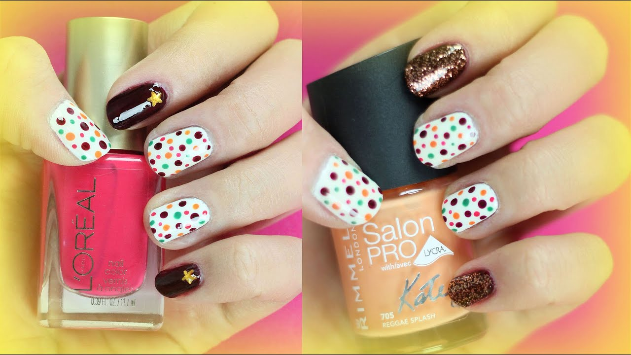Easy and Cute Dotted Nail Art DIY
